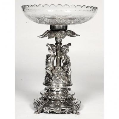 Goldsmith Debain - Centerpiece In Solid Silver Art Nouveau Period
