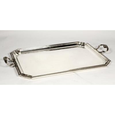 Orfèvre Falkenberg - Rectangular Tray In Sterling Silver - Early 20th Century