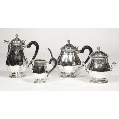 Goldsmith Broliquier And Rodet - Coffee Tea Service In Sterling Silver Late Nineteenth