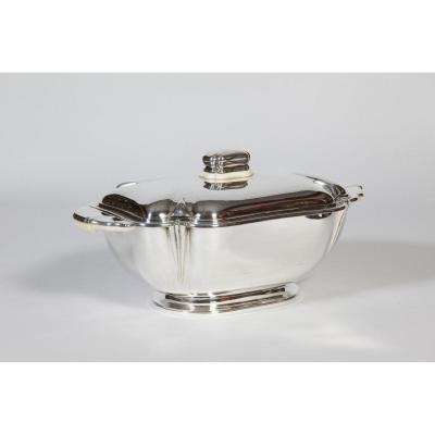Silversmith Raymond Ruys - Centerpiece In Sterling Silver Art Deco Twentieth