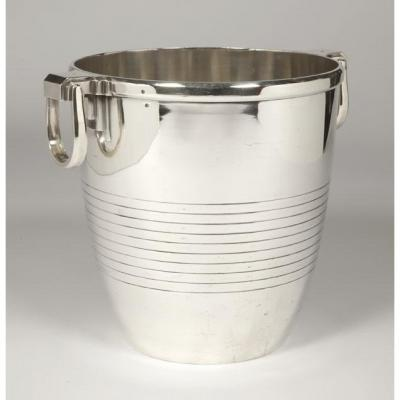 Campenhout Orfèvre - Cooler In Sterling Silver Art Deco Period