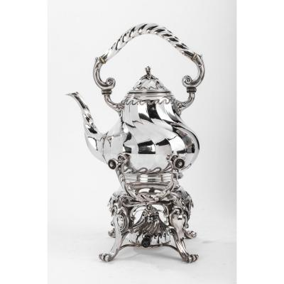 Goldsmith Martin Marie Vve - Samovar Rockery In Sterling Silver XIXth