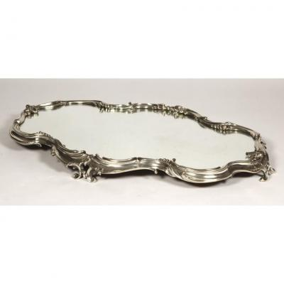 Goldsmith Puiforcat -surtout Of  Table With Mirror Bottom And Sterling Silver Nineteenth