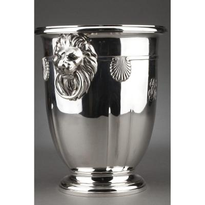 Goldsmith Roussel - Rafraichissoir In Sterling Silver XIXth