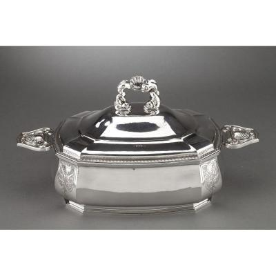 Goldsmith Bancelin - Soup Tureen In Sterling Silver Around 1950/1960