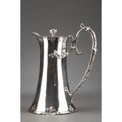 Goldsmith Debain - Jug In Sterling Silver Art Nouveau Period Circa 1900