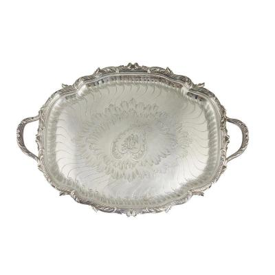 Gustave Odiot - Large Tray In Sterling Silver Nineteenth