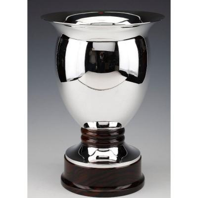 Vase In Sterling Silver Made By The Brussels Goldsmith Simonet