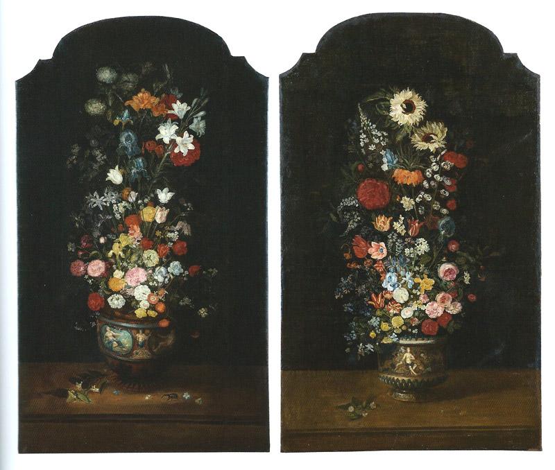 Paire De Bouquets De Fleurs Par Philippe De Marlier