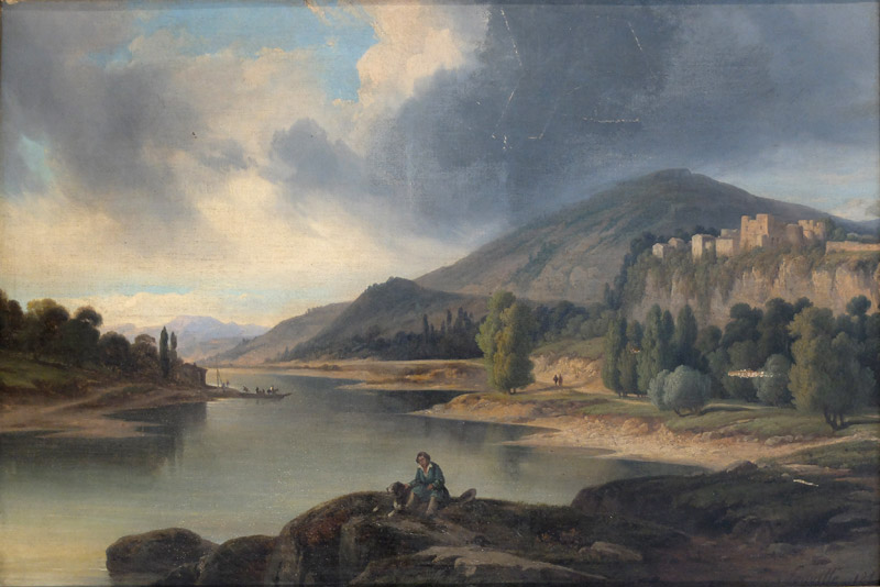 Nicolas Victor FONVILLE (1805-1856) - Lac et montagne