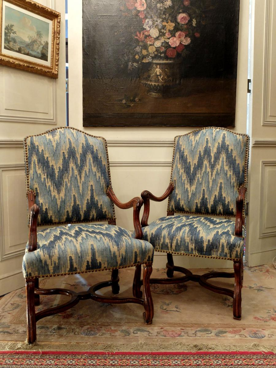 Pair Of Armchairs Louis XIV Period