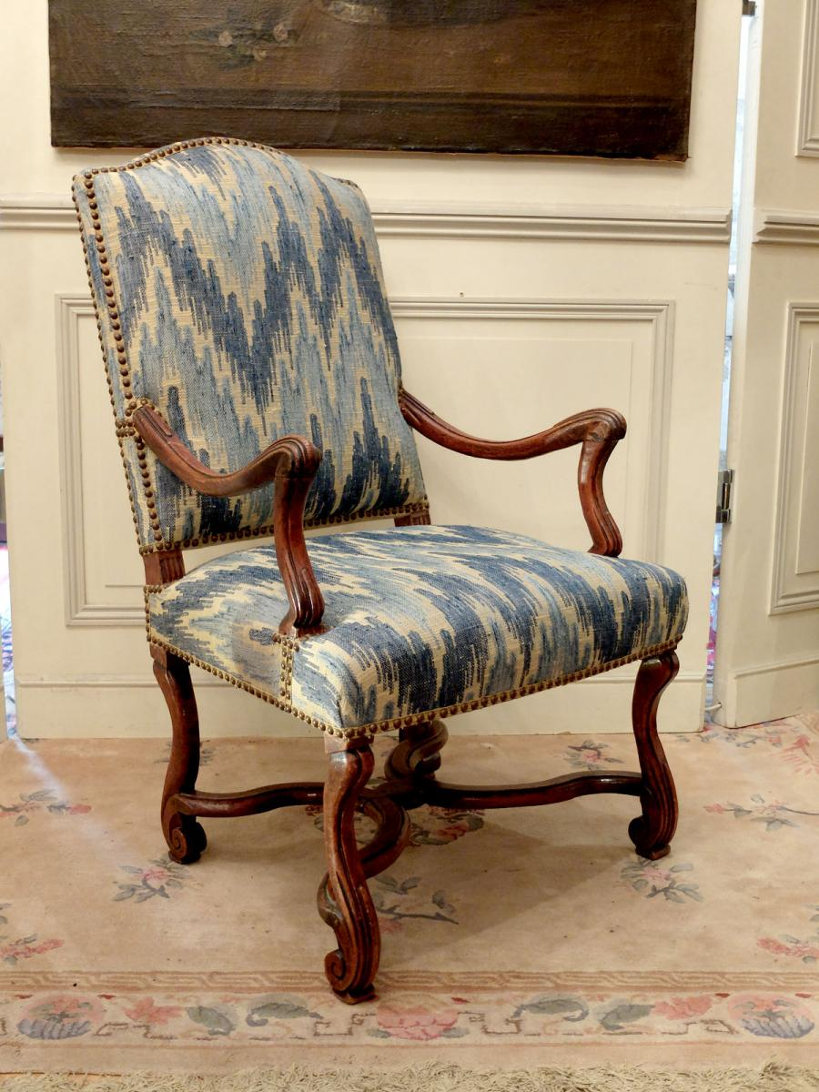 Pair Of Armchairs Louis XIV Period-photo-1