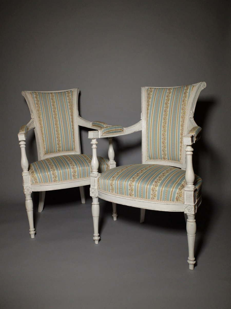 Pair Of Directoire Period Armchairs