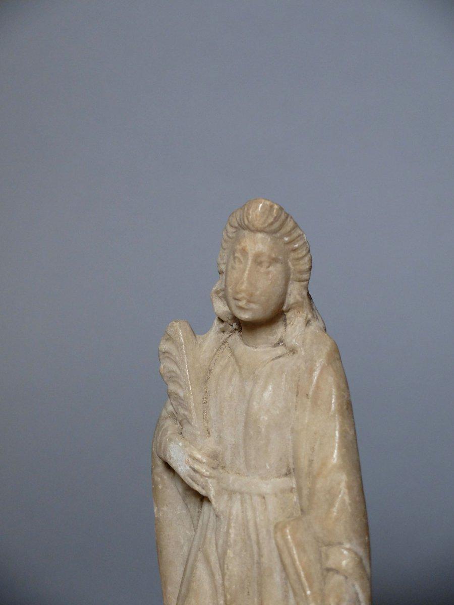 Sainte martyre à la palme - Espagne XVIIème siècle-photo-4