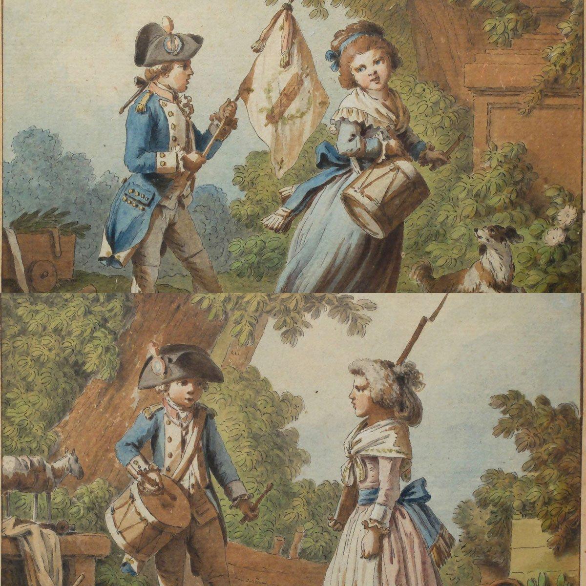 """""""Le tambour national"""" et """"Le chapeau national"""" par Jean-Baptiste HUET"""