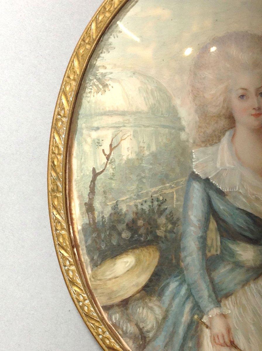 AUGUSTIN DUBOURG, portrait de Marie-Antoinette d'après Gautier d'AGOTY, miniature datée 1780-photo-4