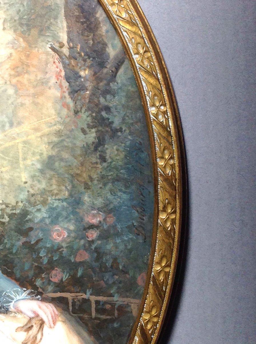 AUGUSTIN DUBOURG, portrait de Marie-Antoinette d'après Gautier d'AGOTY, miniature datée 1780-photo-1