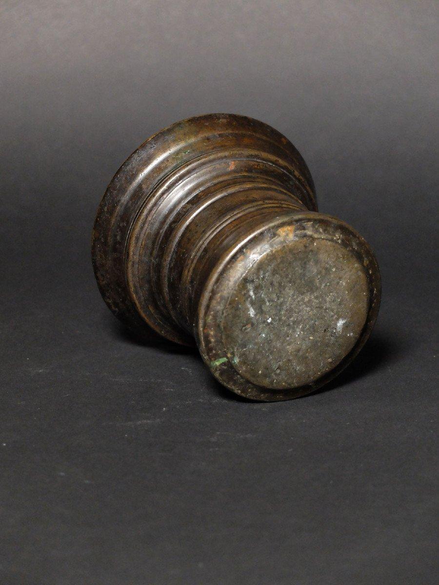 Molded Bronze Mortar Circa 1600-photo-3