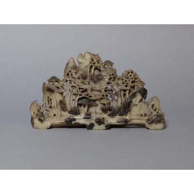 Chinese Landscape - Jade Group, Late Qing Dynasty