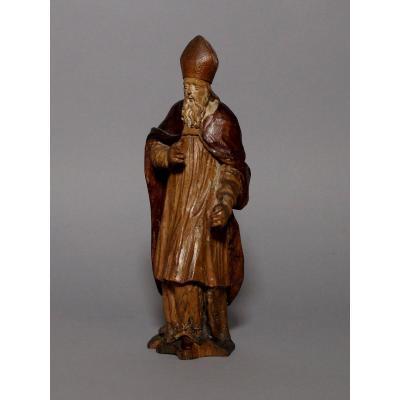 Sculpture d'évêque - France XVIIIème Siècle