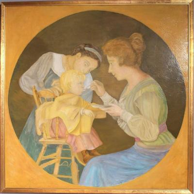 """the Beak, Or Woman Making Her Child Eat"" - Jean Coraboeuf - 1909"