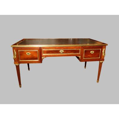 Flat Desk With Mahogany Frames, Louis XVI Period