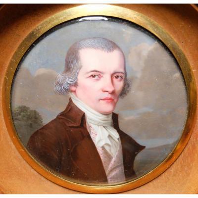 Portrait de Mr Moncand Roux - Miniature émaillée