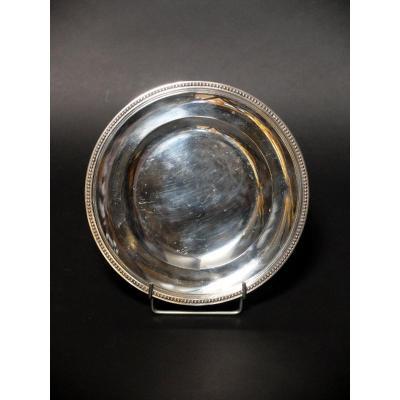 Round Dish In Sterling Silver Hallmarked With Minerva