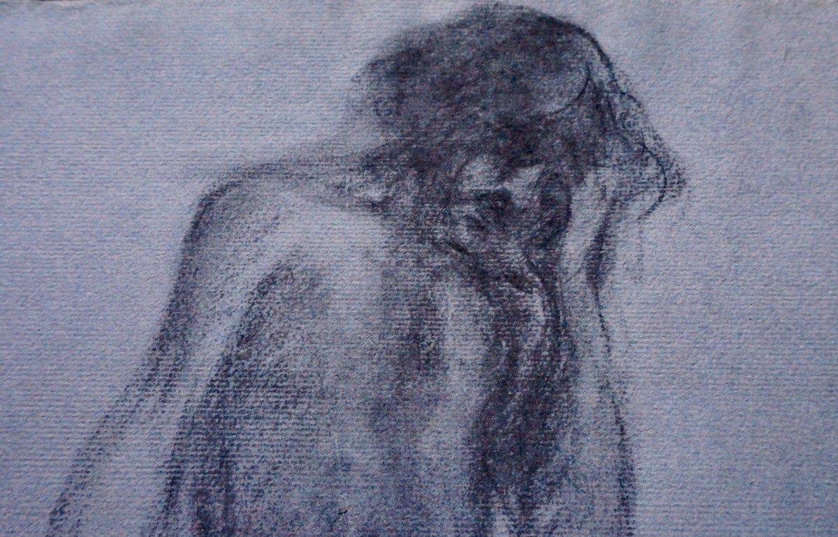 Émile Bernard (1868-1941) Dessin Au Crayon Gras-photo-1