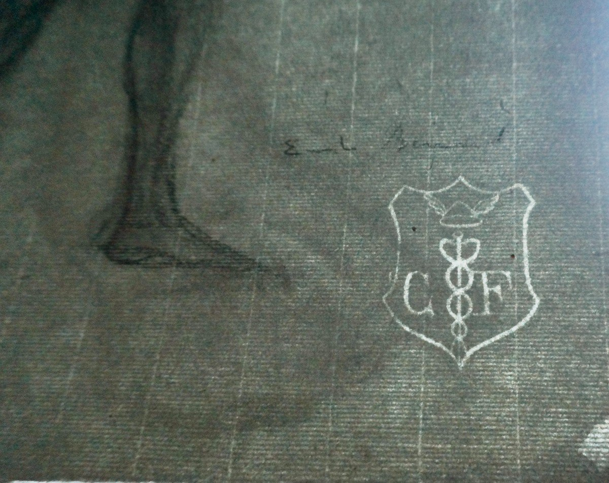 Émile Bernard (1868-1941) Dessin Au Crayon Gras-photo-4