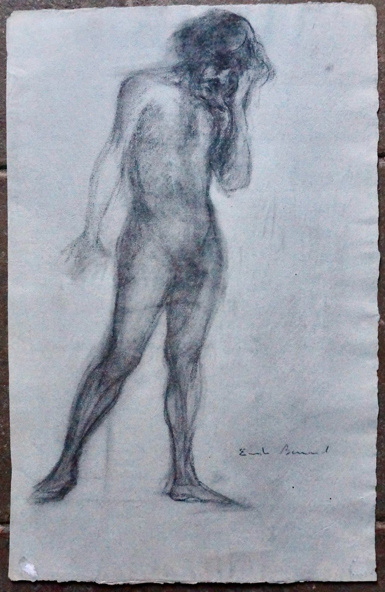 Émile Bernard (1868-1941) Dessin Au Crayon Gras