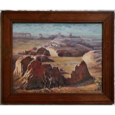 henri Vincent XXe Tableau Usa Arizona Colorado