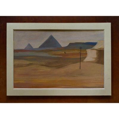 Jean Mayodon 1893-1967 Pyramides