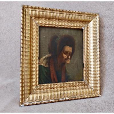 Tableau Portrait d'homme cercle Hogarth William début XIXe