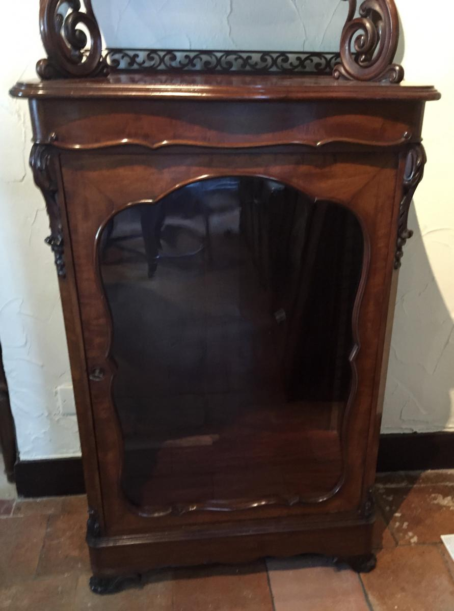 Showcase napoleon iii mahogany vitrine for Le pere du meuble furniture