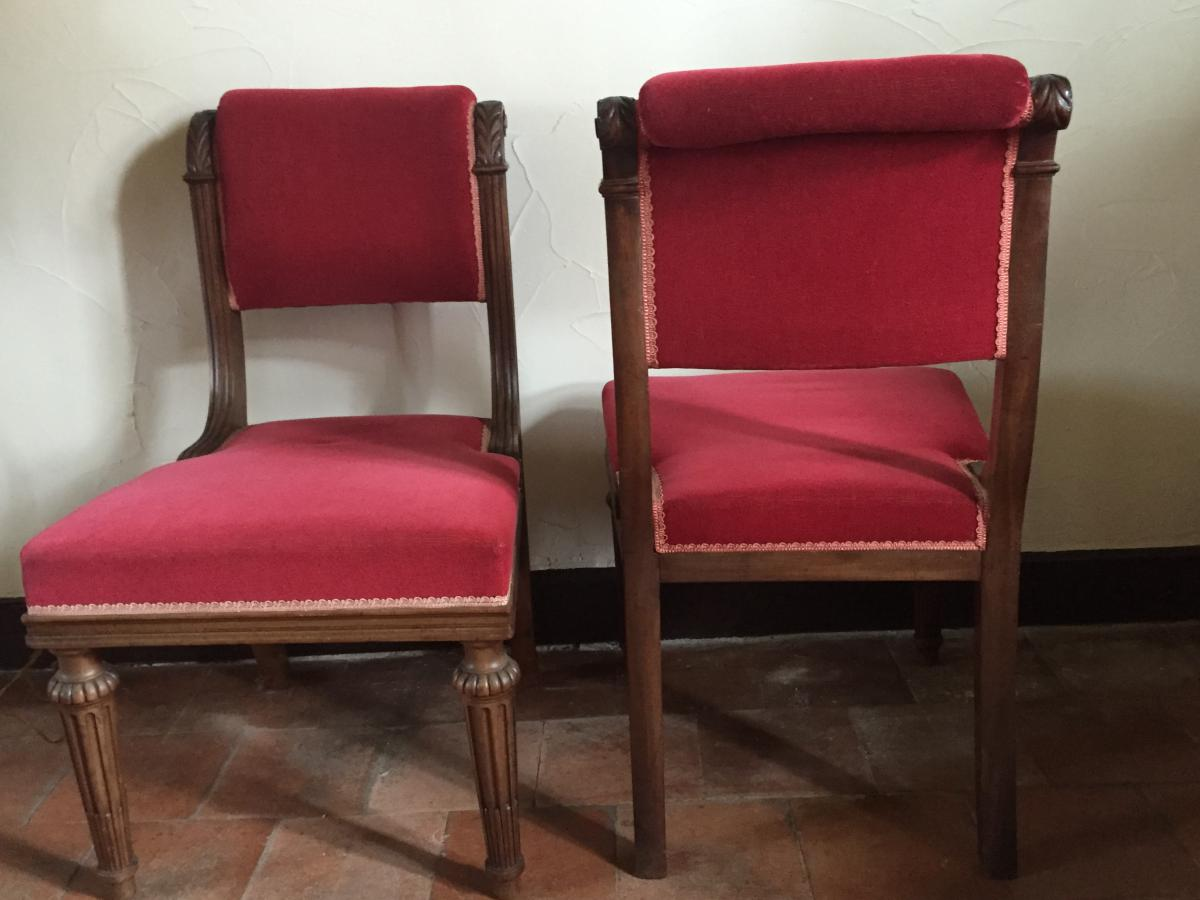 Pair chairs restoration period chairs stools for Le pere du meuble furniture