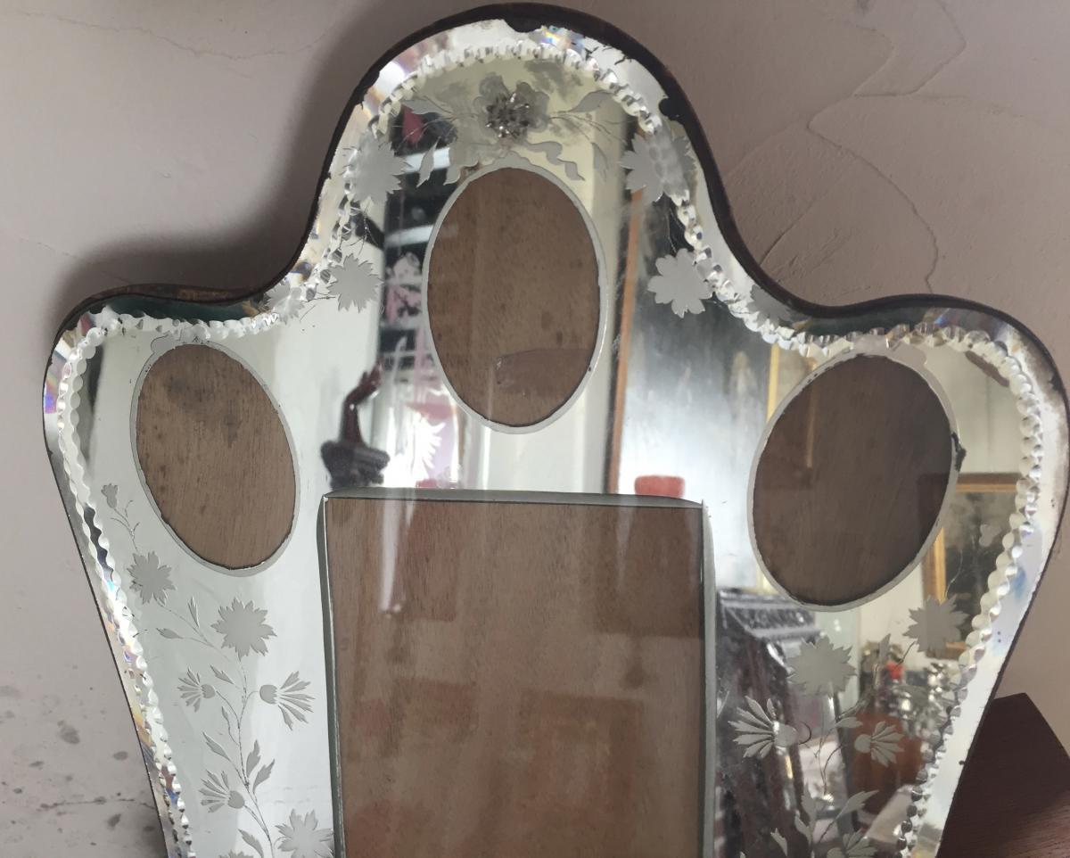 Cadre photo, miroir vénitien, vers 1900-photo-4