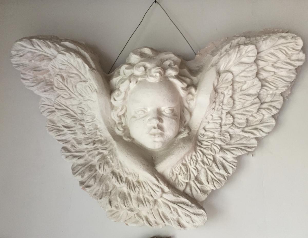Importante tête d'ange, années 70