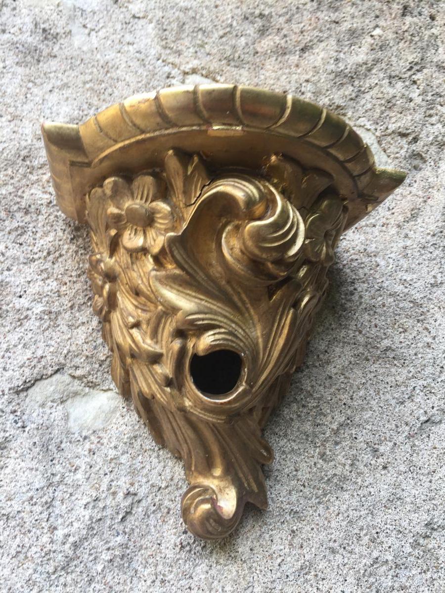 Console d'applique en stuc doré, début XXème