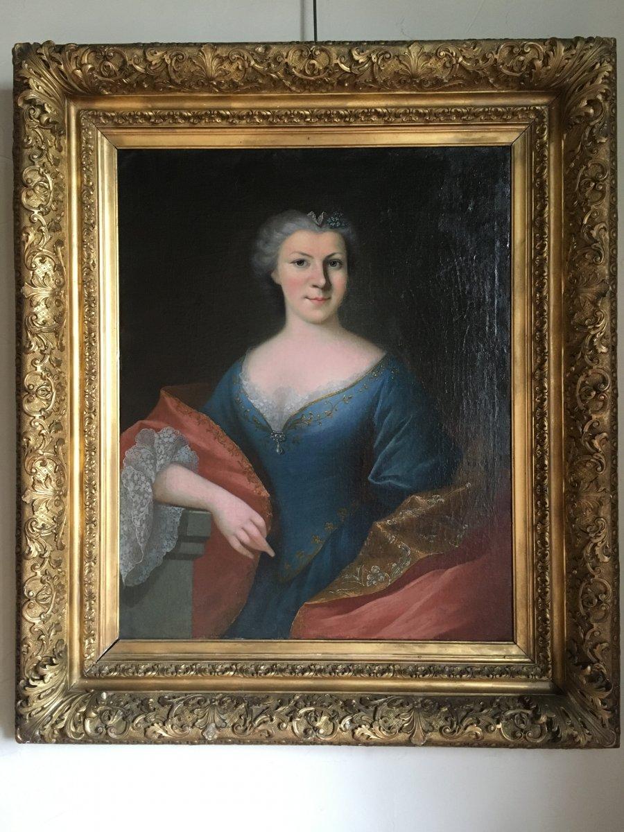 Portrait Of Chatelaine, XVIIth