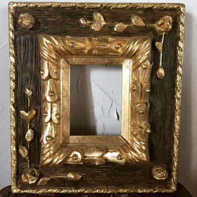 Petit Cadre Doré à La Feuille d'Or, Vers 1900