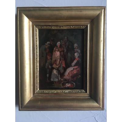 Les mendiants de César, paire de tableaux par César Graillon 1831-1913