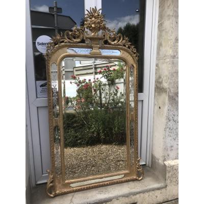 Miroir Louis-philippe Doré à Parecloses Vénitiennes 159x93 cm