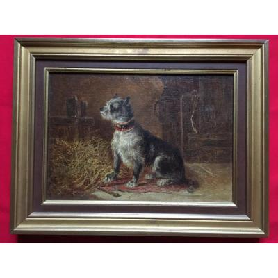 Portrait De Chien Par Zacharie Noterman 1820-1890