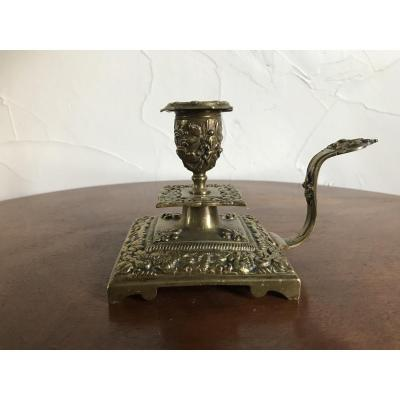 Hand Candlestick In Bronze, XIXth