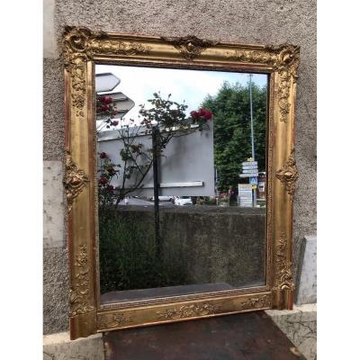 Golden Restoration Mirror With Gold Leaf 100 X 84 Cm