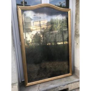 Miroir Chapeau De Gendarme En Bois Doré 151 X 103 Cm