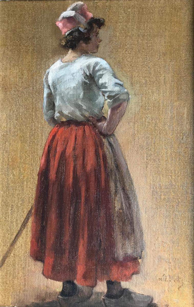Eugène Léon Labitte (1858-1935) Brittany-concarneau