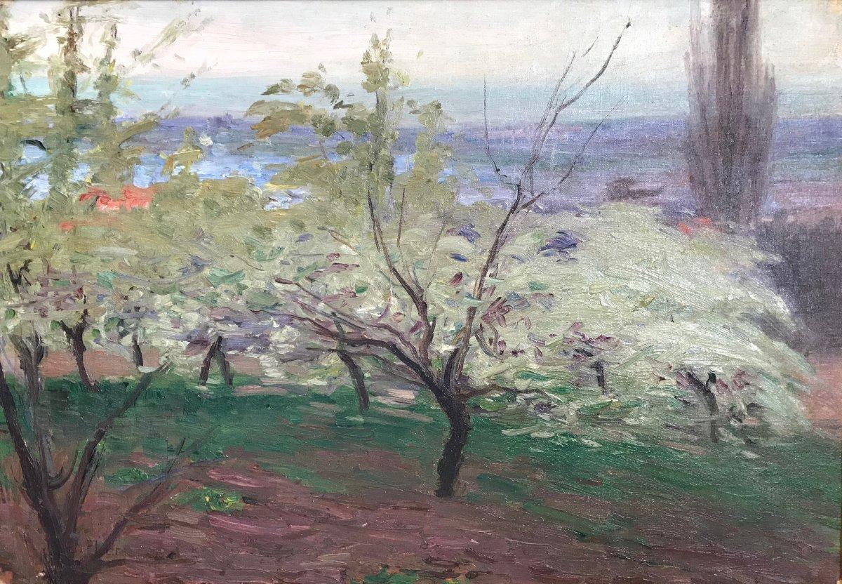 Jules Flour (1864-1921)-Paysage de Provence-Avignon