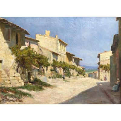 Charles Vionnet (1858-1923)- La Rue De La Monnaie, Villeneuve-les-avignon
